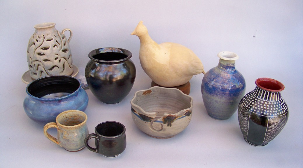 Pots from Schneider's Pottery Shop